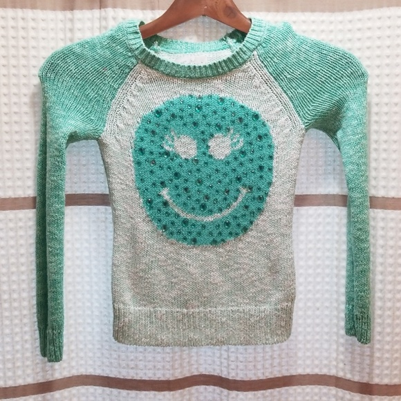 Justice Other - Justice girls smiley sweater